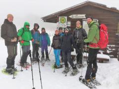 Schneeschuhwandern 2019, Gruppe mit Guide Volker